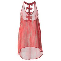 Target : Xhilaration Junior&#x27;s Racerback Coverup Dress -Coral : Image Zoom