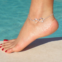 Silver Chain LOVE Anklet  Tiffany &amp; Co inspried by DeliBejeweled