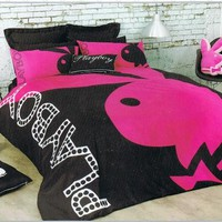Playboy Mansion Playboy Home Collection 'Bunny' King Bed Quilt Cover Set NEW