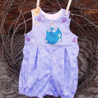 Baby Girl  Bubble Romper Purple Princess size Large 12 months