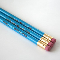 yippee ki yay motherf%cker. 3 aqua pencils. MATURE back to school supplies