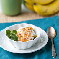 Roasted Bananas with Toasted Coconut | a Couple Cooks