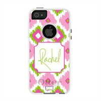 Personalized Otterbox iPhone Case in Ikat Trio Pink