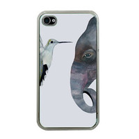 iPhone Elephant and the Hummingbird Apple by HeavenlyCreaturesArt