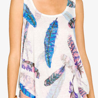 Burnout Feather Tank | FOREVER 21 - 2037962049