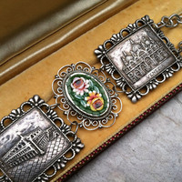 Romantic Repurposed Venice Mosaic Bracelet Artisan by WillowBloom