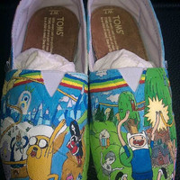 Custom Painted Adventure Time Toms