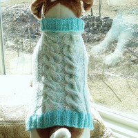 Dog Sweater Hand Knit Spring Delight Cable Medium by jenya2