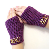Women accessories, Fingerless Gloves, Purple, Magenta Gloves, Adult fingerless gloves, Wrist warmer, Winter gloves, winter gifts, For her
