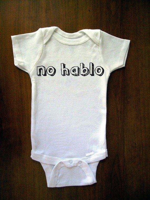 No Hablo Baby One Piece Bodysuit Romper Jumper by trulysanctuary