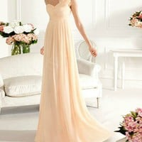 FancyGirl — Graceful Sheath/Column One-shoulder Sweep Train Prom Dress