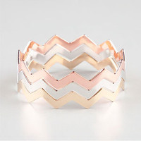 FULL TILT 3 Piece Zig Zag Bangles 212285191 | Bracelets | Tillys.com
