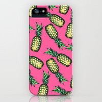 Pineapple Pattern iPhone Case by Georgiana Paraschiv | Society6
