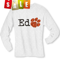 Ed Sheeran Leopard Paw Print Long Sleeved T-Shirt (Preorder)