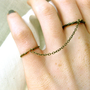 $18.00 adjustable brass double rings with chain featured by freshgrammar