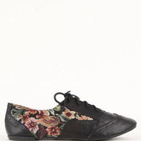 Qupid Salya Floral Oxford Flats at PacSun.com