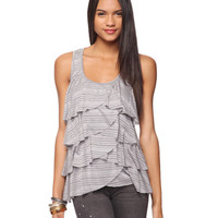 Tiered Striped Top | FOREVER21 - 2000034340