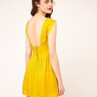 Sessun | Sessun Sleeveless Dress with Fitted Waist and Low Back in Silk at ASOS