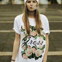 Spiked Apparel  GROSS FLORAL TSHIRT