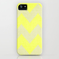 Jonquils & Daffodils - Yellow Chevron iPhone Case by CMcDonald | Society6