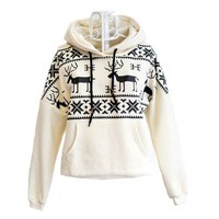 Women&#x27;s Deer Hooded Sweater Coat