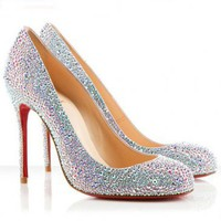 Christian Louboutin Evening Fifi 100mm Aurora Boreale
