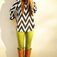 RESTOCK EVERLY: Joy For Chevron Top | Hope&#x27;s