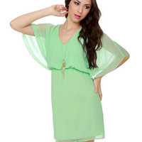 Beautiful Mint Green Dress - Chiffon Dress - $41.00