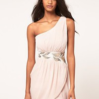 Lipsy | Lipsy One Shoulder Chiffon Dress at ASOS