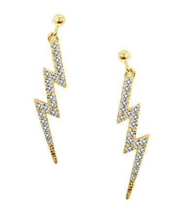DIAMOND LIGHTENING BOLT EARRINGS - Betsey Johnson