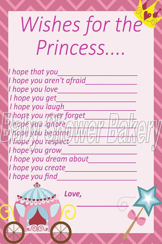 wishes for baby princess baby shower from babyshowerbakery on