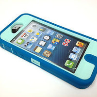 INNER+OUTER SILICONE SKIN SHELL for Iphone 5 compatible with Otterbox Defender