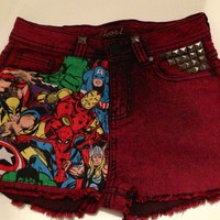 o&#x27;ak Denim  Marvel Avengers Customised shorts