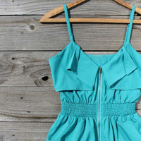 Turquoise Valley Dress, Sweet Women's Country Clothing