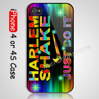 Harlem Shake Just Do It Custom iPhone 4 or 4S Case Cover