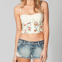 LOTTIE & HOLLY Crochet Floral Corset  208656575 | Corsets | Tillys.com
