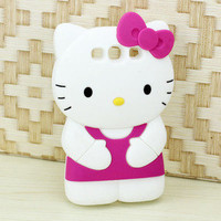 New Hellokitty Cute Soft Silicone Case Cover For Samsung Galaxy III S3 i9300