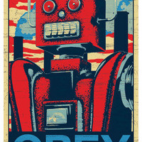 Obey Robot Obama Hope Poster | Posters | RetroPlanet.com