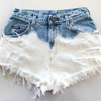 Ombre Vintage High Waisted Shorts by CoHoSupplies on Etsy