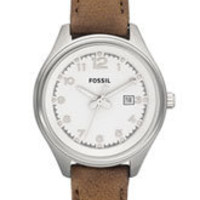 Fossil 'Flight' Leather Strap Watch | Nordstrom