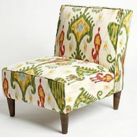 Slipper Chair - Jewel IkatOnline Only!