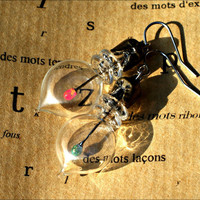 Glass Lantern Earrings Tiny Bottles & by mentalembellisher