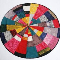 60&quot; Radial Sketch Printed Cotton Rug