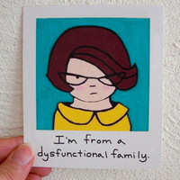 Funny Magnet Dysfunctional Family Girl 60s by SimplyCutebyKarin