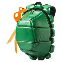 Men&#x27;s TMNT Turtle Backpack with Colored Masks - Green