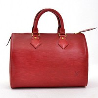 Louis Vuitton Red Epi Speedy 25 City Bag