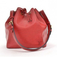 Louis Vuitton Vintage Red Epi Petit Noe Bag