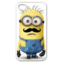 Despicable Me Minion with Cute Mustache iphone 5 black/white case