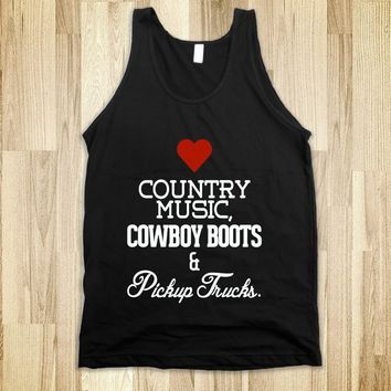 Heart Country music, cowboy boots, pickup trucks - Country Shirts