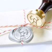 Orion Constellation Gold Plated Wax Seal Stamp x 1